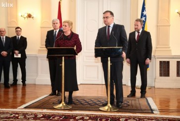 Predsjedništvo BiH  službenom posjetu Hrvatskoj