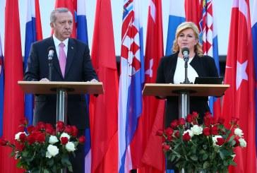 Turski predsjednik Erdogan u Hrvatskoj: 'cilj nam je da razmjena s RH bude milijardu dolara'