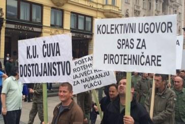 Prosvjed pirotehničara zbog niskih plaća i cijene razminiranja