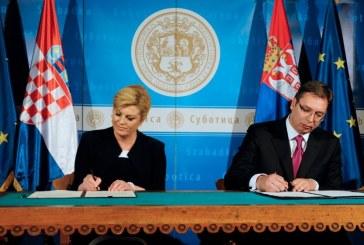 Hrvatska predsjednica i srbijanski premijer potpisali Deklaraciju o unaprijeđenju odnosa dvije zemlje
