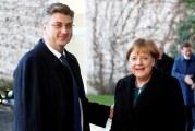 Angela Merkel primila Andreja Plenkovića: 'odnosi između Hrvatske i Njemačke su sjajni'