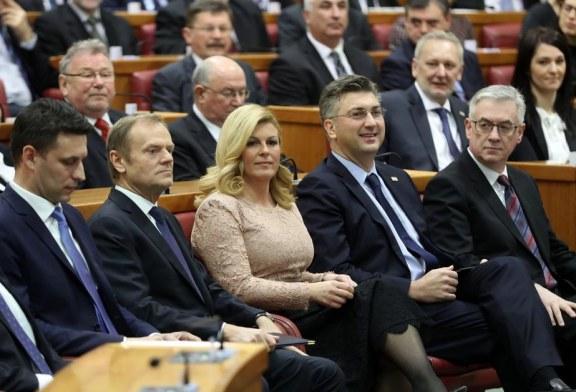 Na svečanoj sjednici Hrvatskog sabora i predsjednik Europskog vijeća Donald Tusk