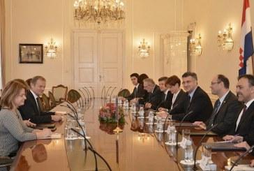 Premijer Plenković primio predsjednika Europskoga vijeća Donalda Tuska