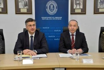Premijer Plenković u Ministarstvu obrane: 'povećali smo proračunska sredstva za obranu'