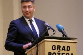 DAN POŽEŠKO SLAVONSKE ŽUPANIJE – Plenković: nema veće zadaće Vlade od projekta Slavonija