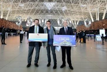 Zračna luka Franjo Tuđman prvi put u povijesti bilježi tri milijuna putnika